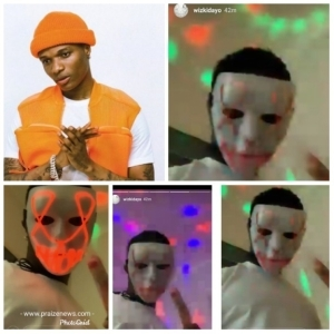 Wizkid Masked In Halloween Costume (Photos)